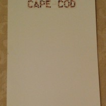 Flat cards – Cape Cod Quarterboard