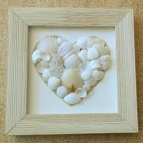Heart – White Driftwood Frame