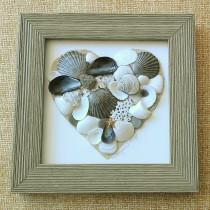 Heart – Grey Driftwood Frame